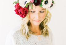 Flower Crowns / Flowers for the hair! / by The Bride's Cafe