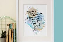 Tea Quotes / Gifts, prints, quotes that are bound to satisfy ANY tea lover. After all, who doesn't love a nice cup of tea?!