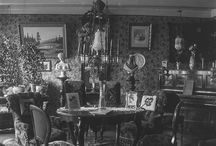 Victorian and Edwardian living room /  Foto´s and paintings 1820-1920