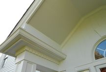 Porch Ceilings / This is a collection of past custom porch ceiling jobs. They range from pine, to soffit, to board and batten. Not only do they look great; they also serve a role to protect from pests like birds and bugs.