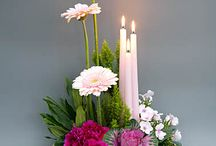Candles&flowers arrangement