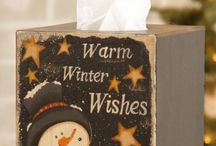 painted tissue box covers / by (Country Lane Folk Art) Becky Levesque