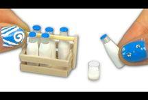 minyatür süt şişesi