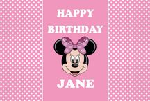 Minnie mouse backdrop / poster / Minnie mouse backdrop / poster - Digital file - Editable - birthday party - Printable