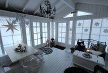 Kesähuone / Kesä/talvihuoneen sisustusta