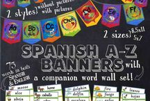 Spanish Word and Phrase Walls / Create one for any age or level. I like to post current unit content.