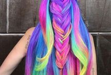 colorfull hairstyles