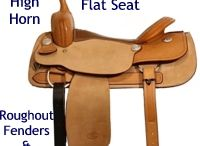 Western saddles parts&construction.
