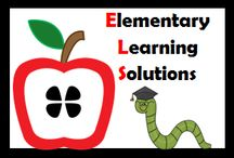 Elementary Learning Solutions / A board full of Elementary Learning Solutions Material for the classroom.