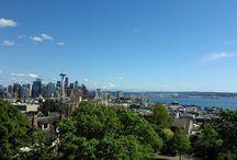 Tanooki travels the world ~Seattle,WA~ / Tanooki's favorite scenery pic while traveling around the world.