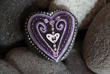 Stones hearts and love