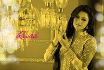 Bhagyashree Suit Collection / Designer Indian Salwar kameez with Bollywood actress Bhagyashree