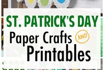 DIY - St. Patrick's Day - Lucky - Green -  FUN! (The Best of Pinterest) / The best do it yourself St. Patrick's Day Holiday craft project tutorials, DIYs, pretty and delicious Recipes, Paper Crafts and Printables, All things GREEN, Lucky, Irish, Shamrock, Minty and delish. Perfect for the family who loves everything handmade, and homegrown!