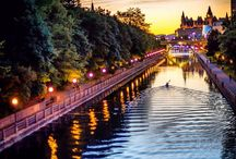 Rideau Canal / A UNSECO World Heritage site located in Ottawa, Ontario, Canada.