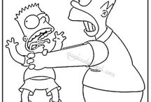 Simpsons Coloring pages free online / Free coloring pages online at: http://magiccolorbook.com/category/the-simpsons/