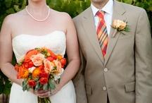 Casamento Laranja e Amarelo