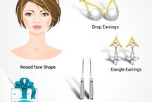 Jewellery for Your Face Type / Follow this board and get to know which #earrings will suit you the best.