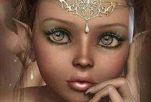 Hadas, duendes y seres mágicos.  Fairies, Gnomes and Magical Beings. / Que habitan el jardín...