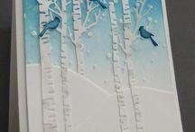 Birch trees cards