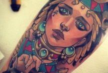 Egyptian sleeve tattoo Amalia