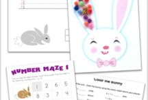 Spring Printables / Spring-themed printables for Easter printables, spring printables, and fun outdoor-themed printables.