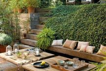Sloped garden / Ideas of gardens on slopes and plants that are suited for such sites