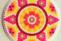 Perler beads sun