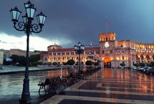 Yerevan, capital of Armenia / Yerevan is the capital and largest city of Armenia and one of the world's oldest continuously inhabited cities.The history of Yerevan dates back to the 8th century BC, with the founding of the fortress of Erebuni in 782 BC.