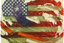 """Bandiere by Gattonero / quadri della serie delle """"bandiere"""". Tecnica mista su tela. http://gattoneroart.it/pages/bandiere1.htm"""
