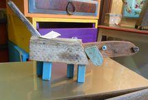 sculture / sculture create con legni e materiali di recupero