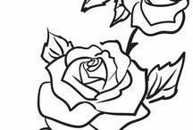 rózsaszál megrajzolása minta