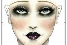1920's Mood Board / Makeup and fashion
