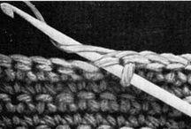 Hekle mønster/teknikker / Crochet Patterns/technices