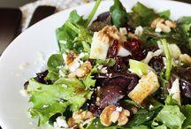 Salad Recipes ♡ / Salad recipes and tasty salad dressings. || healthy salad recipes | salad dressing recipes | salads for parties | salad recipes for dinner | fruit salads