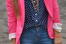 Pink/White Blazer