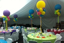 Balloon Centerpieces / Our centerpieces are always the center of attention!