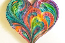 Quilling hearts / Quilling