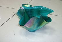 Üveg vázák - KADUSZ / Rogyasztásos módszerrel készítettem a vázákat :) Fusing vase, Fusing váza