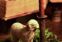 Vintage pull-toy sheep