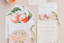 Romantic Peach Wedding Styling