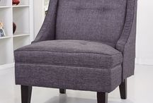 possible accent chairs for bedroom bay window / by Kim Souza