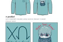 Christmas / Greek sorority and fraternity custom shirt designs featuring Christmas themes. For more information on screen printing or to get a proof for your next shirt order, visit www.jcgapparel.com