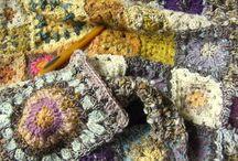 cubrelechos en crochet