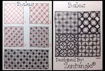 Zentangle line grid