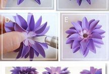 Paper flowers / Cute and pretty