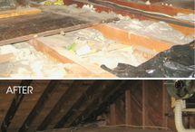 Aménagement toit plintes moulures
