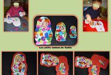Bricolages divers par les p'tits loulous de Gaëla / Bricolages et activités des enfants/assistante maternelle