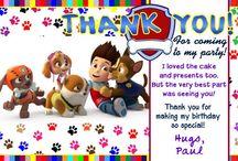 Paw Patrol Personalised Birthday Party Invitations / Paw Patrol Personalised Birthday Party Invitations