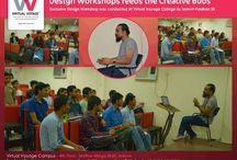 Workshop on Design, Media & Theater by Mr. Sambit Pradhan. / Workshop caters us with knowledge we don't even know we require to have, gives answers to the questions we don't even know exists and rewires our brain in the right direction.  DESIGN IDEATIONS, ACTIVITIES, & FASCINATING MOVIES and lot more creative artwork ideas  Wonderful workshop at Virtual Voyage Premises was exclusively conducted by NID Alumnus, Mr.Sambit Pradhan sir for Fashion, Interior, Design, Media & Performing Arts students!