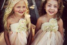 Cute flower girls